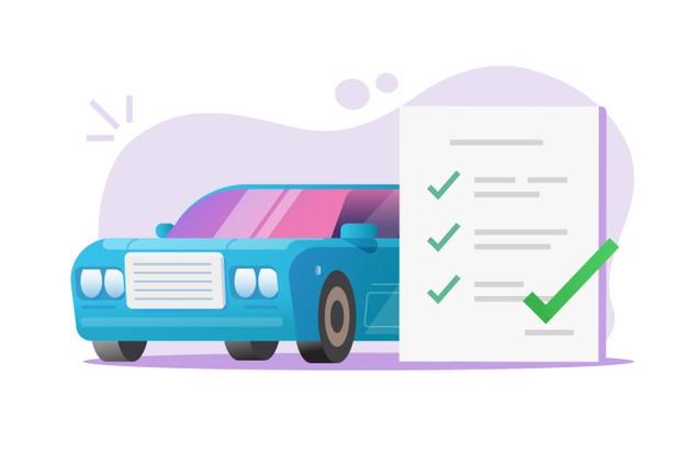 Car vehicle maintenance inspection checklist review report vector Premium Vector